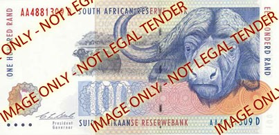 R100 Note with watermark